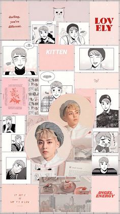 Pink Tumblr Aesthetic, Iphone Wallpaper Tumblr Aesthetic, Aesthetic Backgrounds, Kpop Aesthetic, Pink Aesthetic, Aesthetic Wallpapers, Baekhyun, Exo Kokobop, Kpop Exo