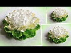 Цветы канзаши. Цветы из атласных лент. Flowers kanzashi. - YouTube