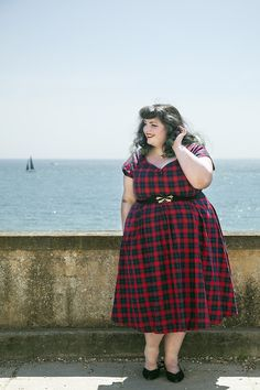 Summer Lily, Spring Summer, Here Comes The Summer, Ootd, Love Photos, Swing Dress, Tartan, Dj, Plus Size