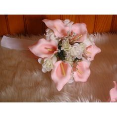 Arums, Bouquet Champetre, Ivoire, Tulle, Roses, Crown, Bunch Of Flowers, Artificial Flowers, Pink Color