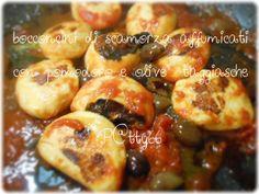 [ VGT]Bocconcini di scamorza affumicata al pomodoro e olive taggiasche