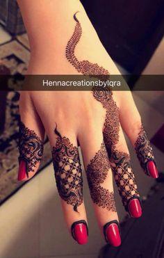 Finger Henna Designs, Henna Art Designs, Mehndi Designs 2018, Mehndi Designs For Girls, Modern Mehndi Designs, Mehndi Design Pictures, Wedding Mehndi Designs, Mehndi Designs For Fingers, Beautiful Mehndi Design