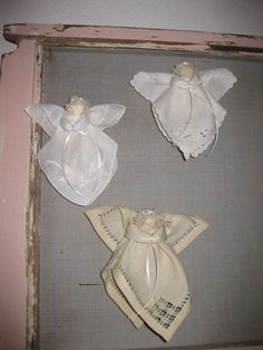 Handmade Vintage Hankie Angel by sentimentality on Etsy, $18.00 apiece