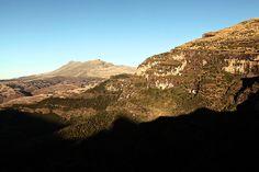 the simien mountains, ethiopia via line x shape x colour