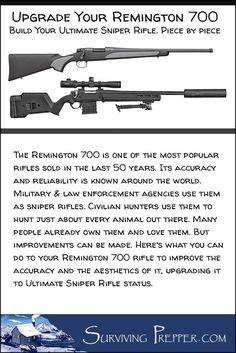 Remington 700 Upgrade: Let's focus on what you can do to your existing Remington 700 rifle to improve the accuracy and the aesthetics of it. Remington 700, Long Rifle, By Any Means Necessary, Tac Gear, Hunting Rifles, Deer Hunting, Cool Guns, Guns And Ammo, Weapons Guns