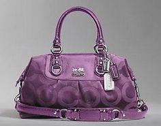 Purple Coach bag!