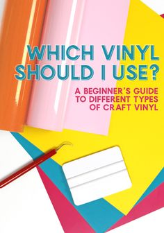 Are you overwhelmed by the many different types and varieties of vinyl? Are you not sure which vinyl to use on a mug, on wood, on shirts, for glass etching, etc.? Then, this is the post for you! Learn all about the different types of vinyl, and find out what you need.