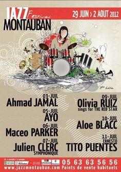affiche Festival #jazz à Montauban (France) 2012 Jazz Festival, Julien Clerc, Jazz Poster, All That Jazz, Music Wall, Jazz Blues, Concerts, Flyers, Musica