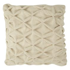 Trellis Natural Knit Cushion