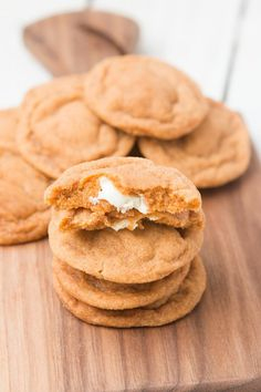 Pumpkin Spice White Chocolate Cookies ☺  ☻ ✿