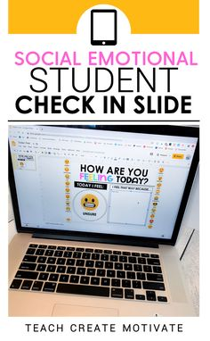 Free Classroom Management Tool - Remote Learning - Get my FREE digital social emotional check in slide and poster! This resource will help you manage - Whiteboard, Teaching Tools, Teacher Resources, Teacher Websites, People Reading, Social Emotional Activities, Student Behavior, Behavior Plans, Behavior Charts