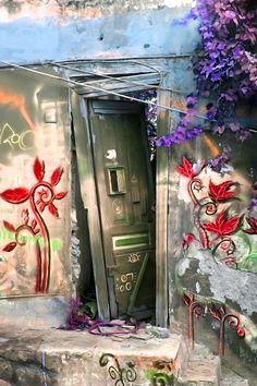 'Plaka door no.2' von Pia Schneider bei artflakes.com als Poster oder Kunstdruck
