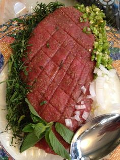 kepe crudo Steak, Passion, Fish, Meals, Recipes, Pisces, Steaks, Beef