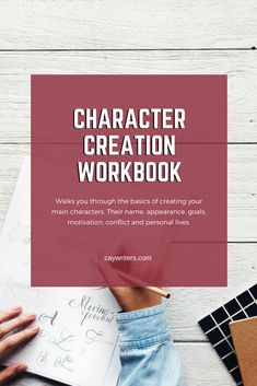This content creation workbook walks you through the basics of creating your main characters. Their name, appearance, goals, motivation and conflict, and personal lives. Write believable characters, compelling characters, round characters, and develop your characters to keep readers engaged. #writers #writing #writingtips #characters #writinginspiration Fiction Writing, Writing Advice, Writing Resources, Blog Writing, Writing Skills, Writing A Book, Article Writing, Writing Ideas, Writers Help