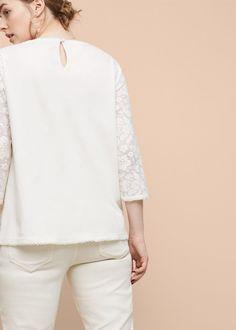 Besticktes baumwoll-t-shirt | VIOLETA BY MANGO