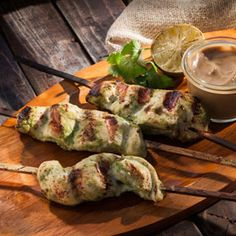 Cilantro Coconut Chicken Skewers,a recipe from ATCO Blue Flame Kitchen's From the Grill 2014 cookbook.