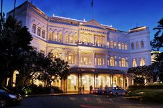 """Get a """"Singapore Sling"""" cocktail at the Raffles Hotel in Singapore. Would love to see where my husband grew up."""