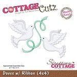 Cottage Cutz - Die - Doves w/ Ribbon