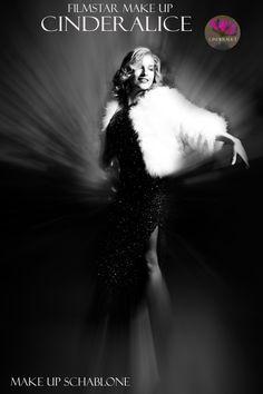 DIY Filmstar Make up - #Hollywood #Styling - Make up Schablone Cinderalice - Makeup Inspiration Marilyn Monroe - #konturieren und #highlighten - #alva Naturkosmetik - #Vintage Fotoshooting - Stephanie und Wieland von Westernhagen
