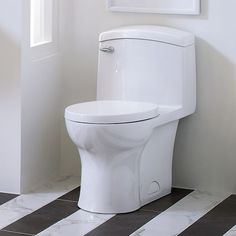 DXV Roycroft One-Piece Elongated Toilet Room Scene - Canvas White Audrey bath