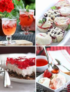 A collection of recipes using strawberries!