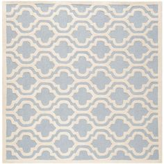 Cambridge Light Blue/Ivory 6 ft. x 6 ft. Square Area Rug