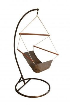 Who doesn't want a hammock?! Relaxation at it's best! Stone Hanging Chair On Stand from Swingz n Thingz