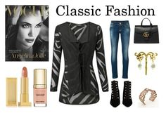"""Classic Fashion"" by walkinwardrobe ❤ liked on Polyvore featuring Philipp Plein, Balenciaga, Gucci, Lipstick Queen, Dolce&Gabbana, women's clothing, women's fashion, women, female and woman"