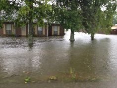 Tommy Moore Rd Flooding near Woodrun Subdivision in Ascension Parish