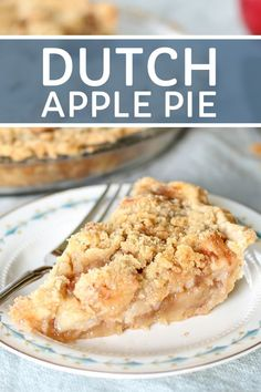 Dutch apple pie recipe with homemade crumble topping and delicious pie filling. This dutch apple pie recipe is the very best and is so easy to make! A crispy crumble topping on a homemade apple pie filling make this dutch apple pie a family favorite! Apple Pie Recipe Easy, Easy Pie Recipes, Apple Dessert Recipes, Homemade Apple Pies, Apple Recipes, Delicious Desserts, Apple Pie Recipe Crumble Top, Dutch Apple Pie Topping, Best Apple Pie