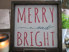 Wood Sign Merry and Bright by WilliamRaeDesigns on Etsy