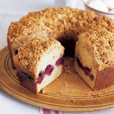 Seems like a bit of a pain for coffee cake (which I think should always be simple and quick) but it is very pretty.