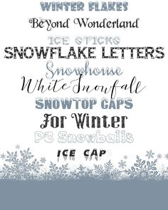 Winter is long and sometimes brutal in our neck of the woods but hey at least we can say we experience all seasons, the good and the bad. I am embracing the Winter season today with 10 of my favorite cold weather inspired fonts. Fonts that would be perfect to use on photos, with crafts, on printables and just about anything you want to add a message to. And bonus points for me because each of these are a free download from the website, Da Font. Here are my top snowy font picks for Winter…