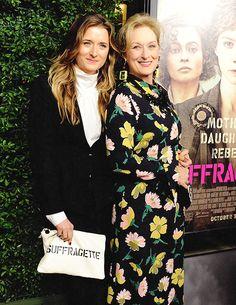 Meryl & daughter Grace Gummer attend the premiere of 'Suffragette' in Beverly Hills ~ October 20, 2015