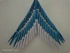 Мастер-класс, Поделка, изделие Оригами модульное: Дельфин Бумага. Фото 24