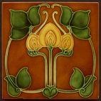 Art Nouveau Tiles from Tile Heaven Art Nouveau Tiles, Art Nouveau Design, Design Art, Arts And Crafts Movement, Craftsman Tile, Craftsman Decor, Craftsman Fireplace, Azulejos Art Nouveau, Jugendstil Design