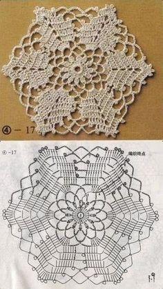Patterns and motifs: Crocheted motif no. 1544