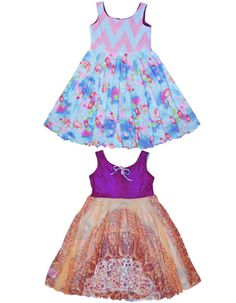 These pretty little girl dresses are reversible.  It's two in one and lots of fun!
