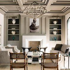 Luxo interiores - High End designers de interiores Living Room Interior, Living Room Furniture, Living Room Decor, Living Rooms, Decor Room, Classic Interior, Luxury Interior Design, Design Salon, Design Desk