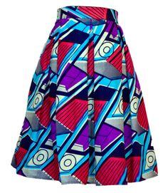 Miriam Box Pleated Skirt ~ African fashion, Ankara, kitenge, Kente, African prints, Braids, Asoebi, Gele, Nigerian wedding, Ghanaian fashion, African wedding ~DKK