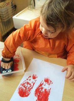 Stempelen met schoenen - schoenafdruk. Blog | Juf Athina Kindergarten Themes, Education, School, Blog, Art, Blogging, Teaching, Onderwijs, Studying