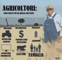 Agricoltori: sono molto più di quel che pensi. Meccanici, meteorologi, scienziati, operatori agricoli, pianificatori finanziari, agronomi, operatori informatici, allevatori, famiglia.  Tradotto (con errori) da RdZ dall'originale del Kansas Dept. of Agriculture