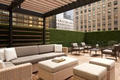 The Grand Club's outdoor terrace allows for stunning views of NYC- Grand Hyatt New York