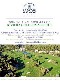 GOLF SUMMER CUP 14 juillet 2017 RIVIERA GOLF DE BARBOSSI DOMAINE DE BARBOSSI