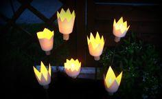 Mit diesen DIY Gartenlichtern wird die Stimmung an lauen Sommerabenden garantiert zauberhaft!