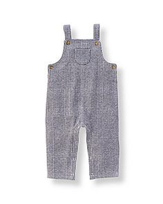 Navy Plaid Overall - Janie and Jack