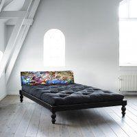 Détails Lit O ROCK BED avec tête de lit imprimée graffiti