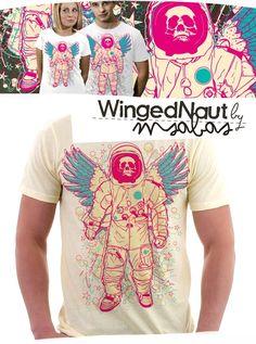 """wingednaut"" | T-Shirt Design"