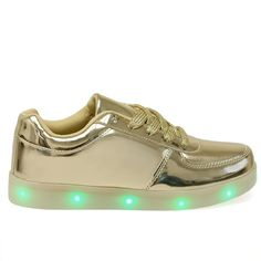 Signal-60 Gold Light Up Bottom Patent Sneakers