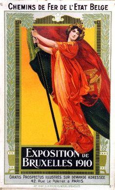 Exposition de Bruxelles - 1910 vintage poster
